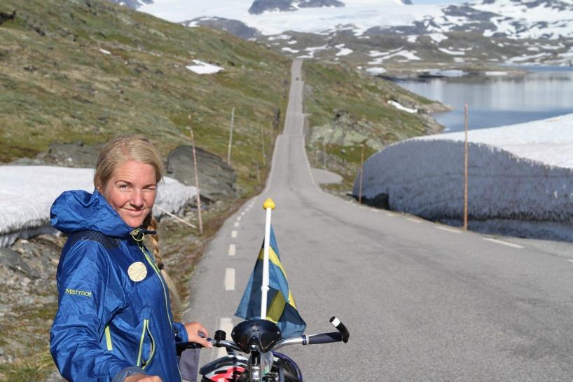 Susanne var väldigt fräsch trots all klättring =)