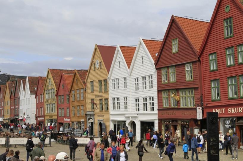 Den berömda Bryggen i Hansa-stil, Bergens stolthet!