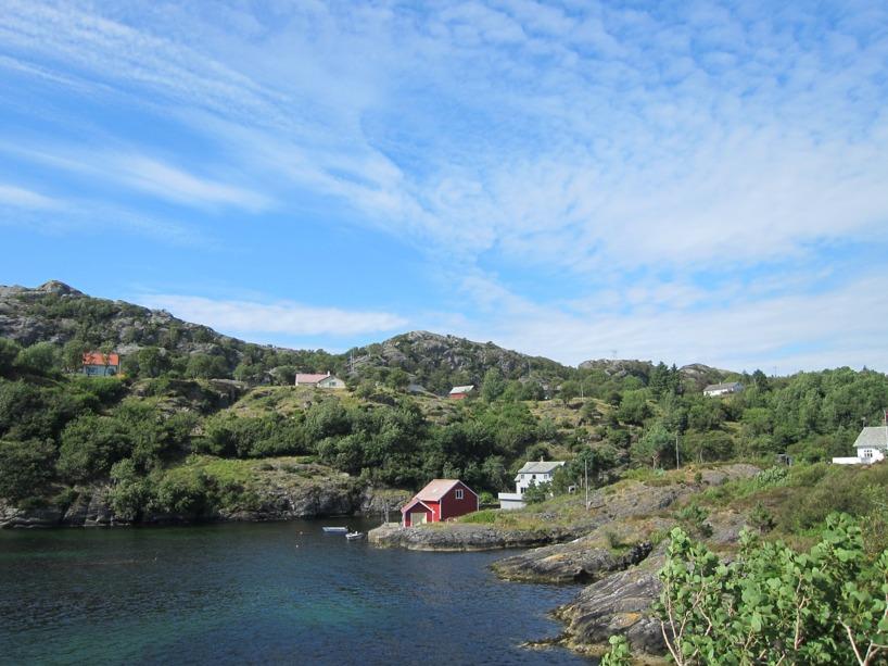 Den norska västkusten var väldigt lik den svenska