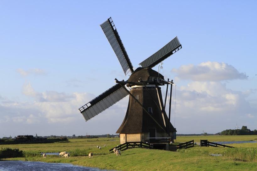 Den typiska, men otroligt vackra synen i Holland