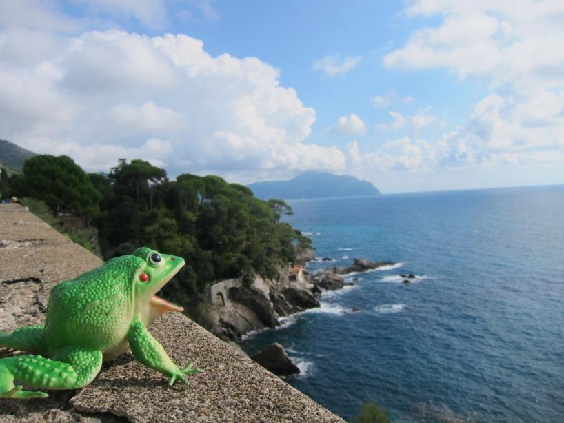 Travelsfrog njuter av den Italienska Rivieran!