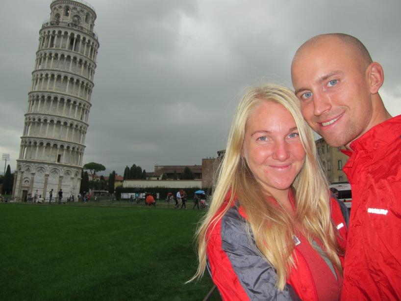 En lite närmare bild på det berömda tornet och vi :)