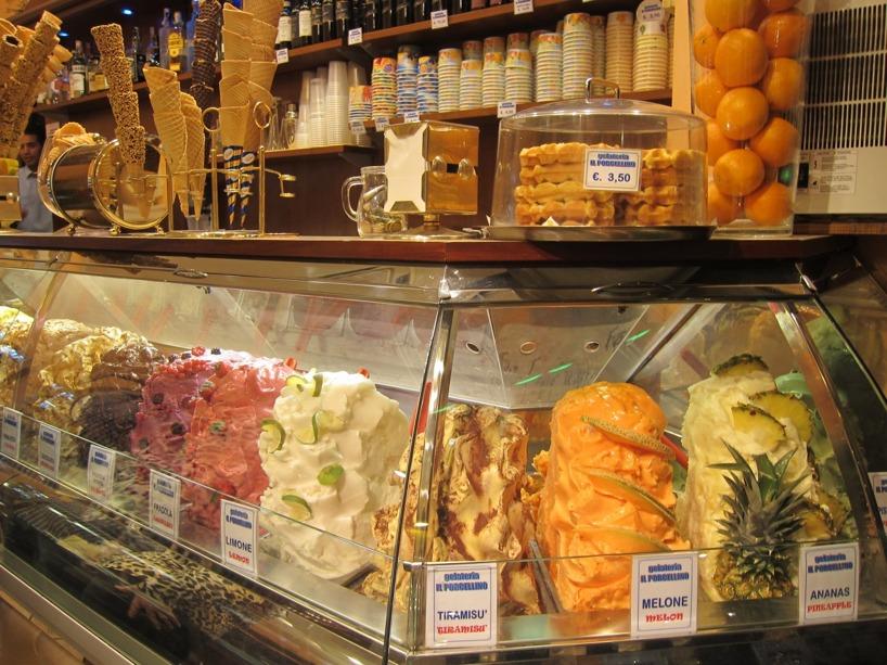 Vi avslutar med denna bilden på Italiensk glass- något vi äter minst en om dagen!