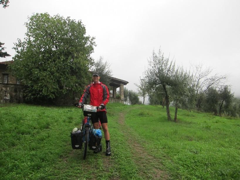 Dags att lämna villan i Toscana...