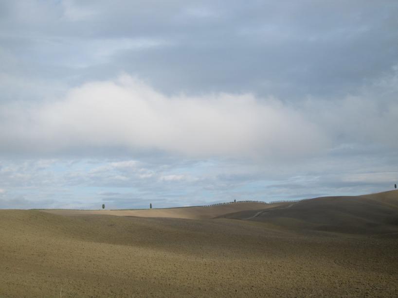 När vi sedan cyklade in i Lazio-regionen såg det istället mer ut såhär...