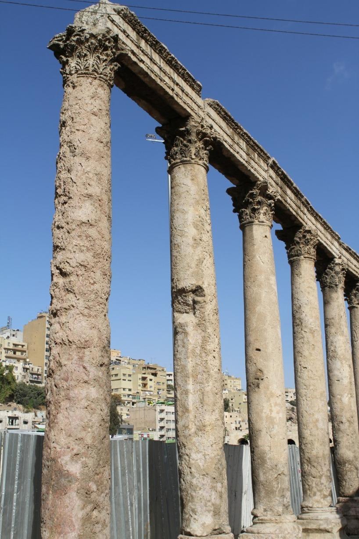 Ruiner från den antika staden Filadelfia... Amman, Jordanien.