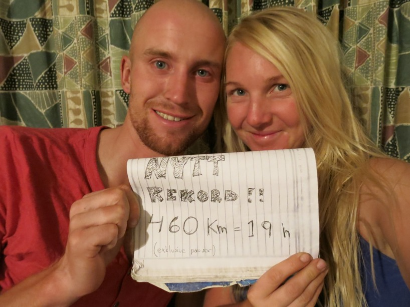 Framme och rödsprängda ögon. Men WE MADE IT!!!! Framme i Windhoek där vi ska vila och åka på safari!