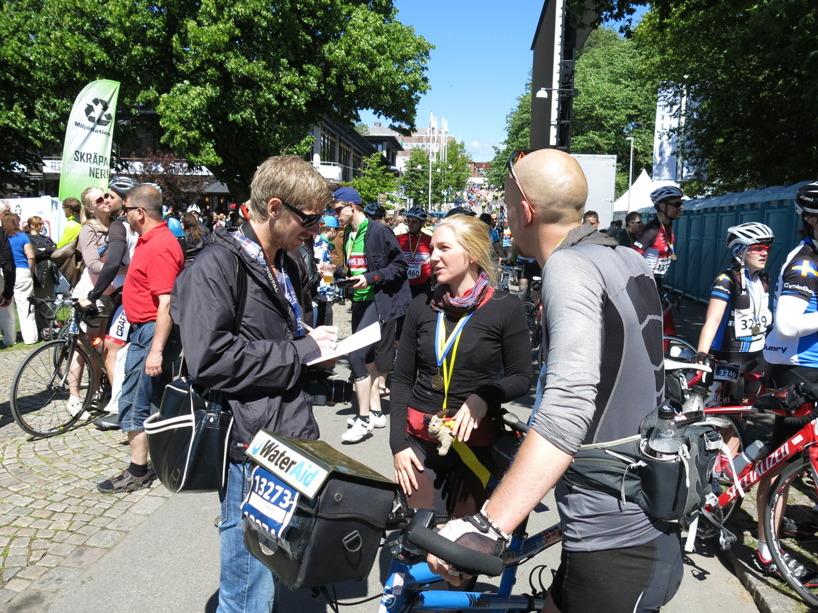 """Inne i mål! Här Intervju med Tidningen """"Cykla"""", Vätternrundans egna tidning. En artikeln som kommer i oktober och levereras till alla cyklister postlådor =)"""