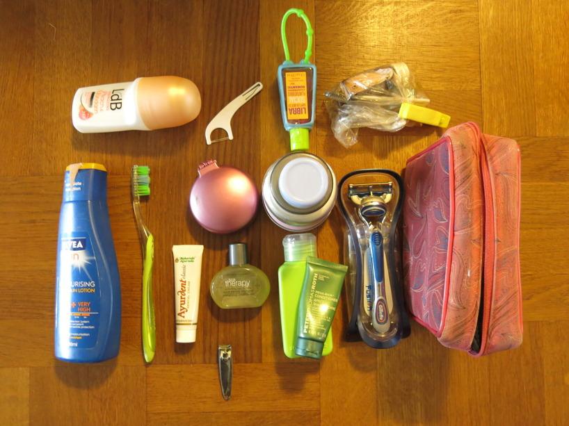 Hygienutrustning inklusive smink :)