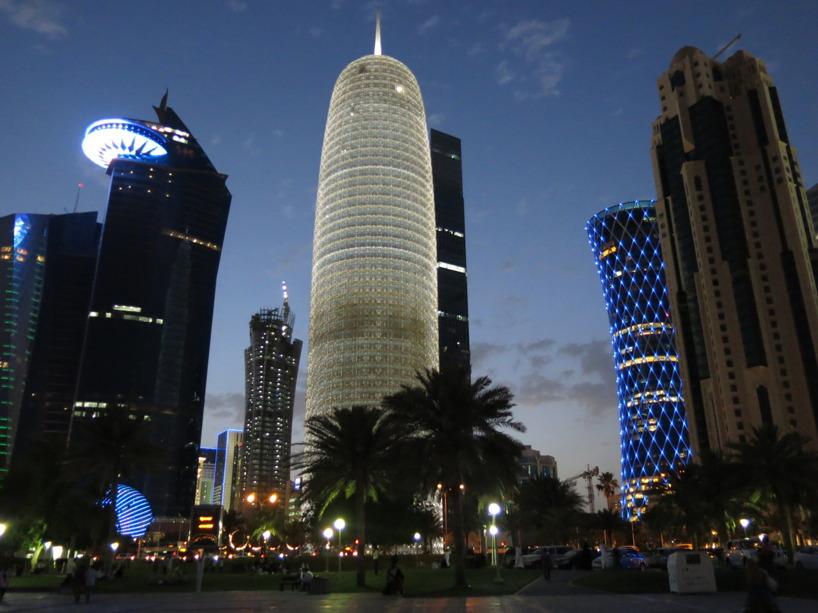 Doha by night!