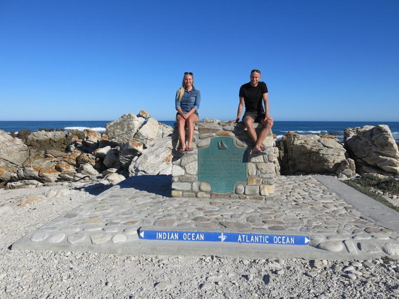 Vi åkte sedan till Cape Agulhas - Afrikas södraste punkt!