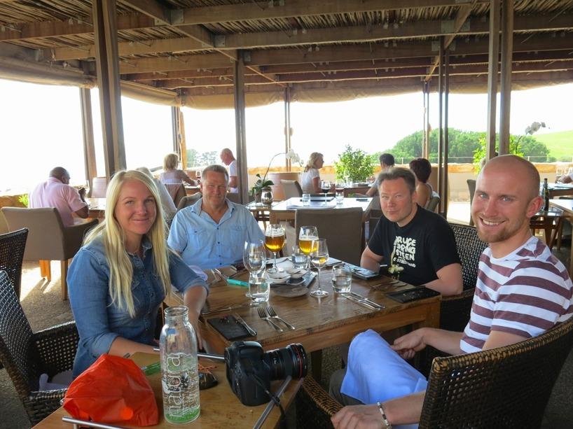 Till lunch tog vi en avsmakningsmeny på Overture, en av Sydafrikas topp tio bästa restauranger