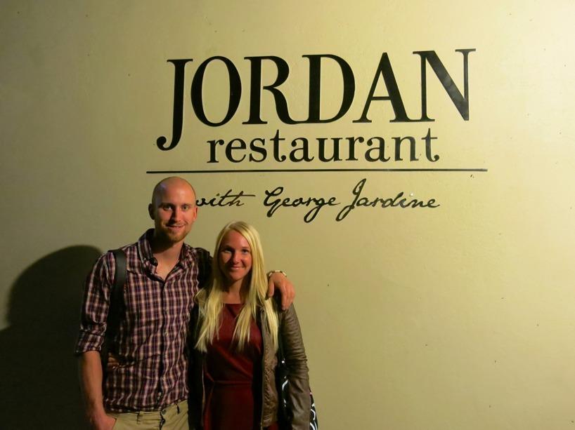 Det blev en avsmakningsmeny på den berömda restaurangen Jordan i Stellenbosch