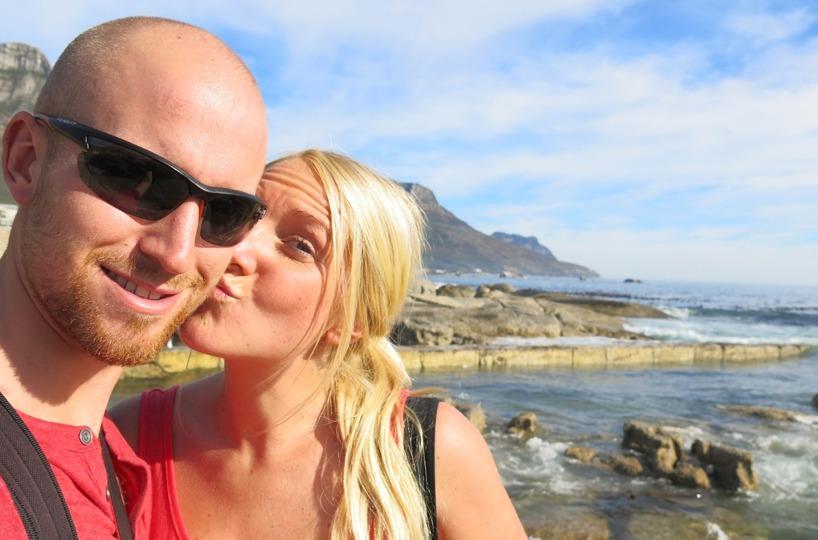 Vi hoppade av vår Sightseeing buss i Camps Bay och gick runt på stranden!