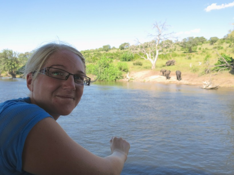 Ute på Safari cruise på Chobe River!