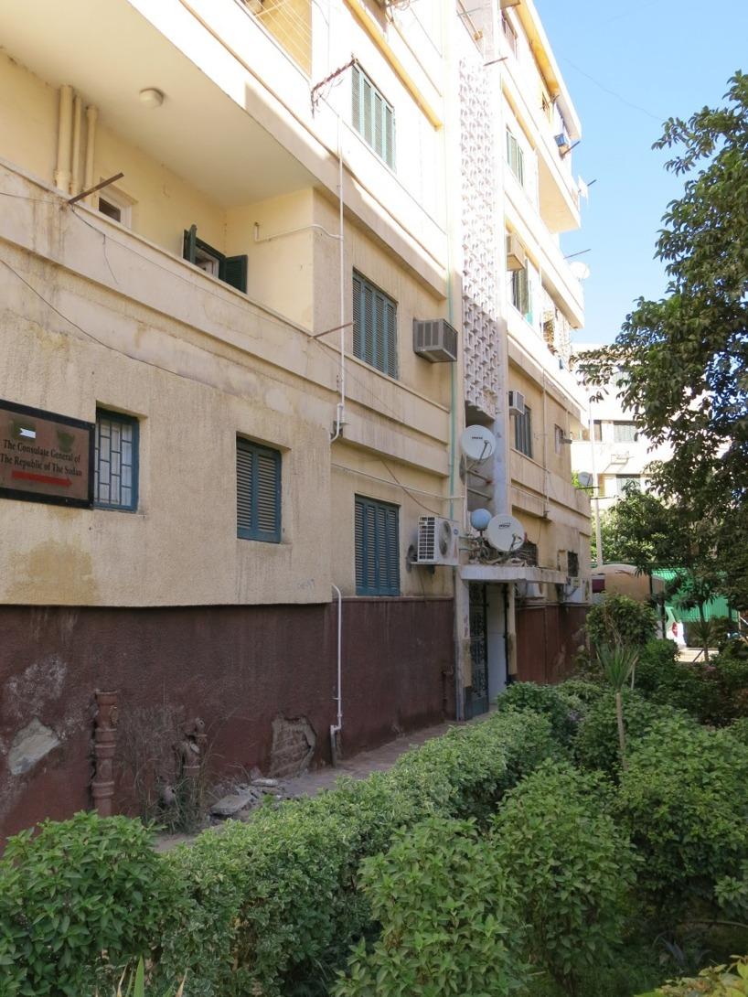 Här kan ni skåda ingången till Sudans konsulat :/