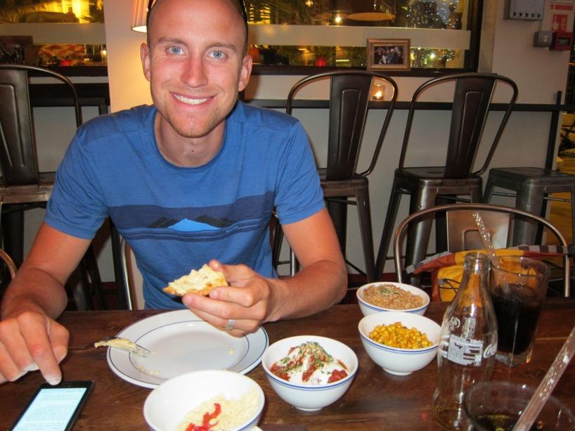 Middagen som smakade gott med var dyr, gentemot vår vanliga matbudget!