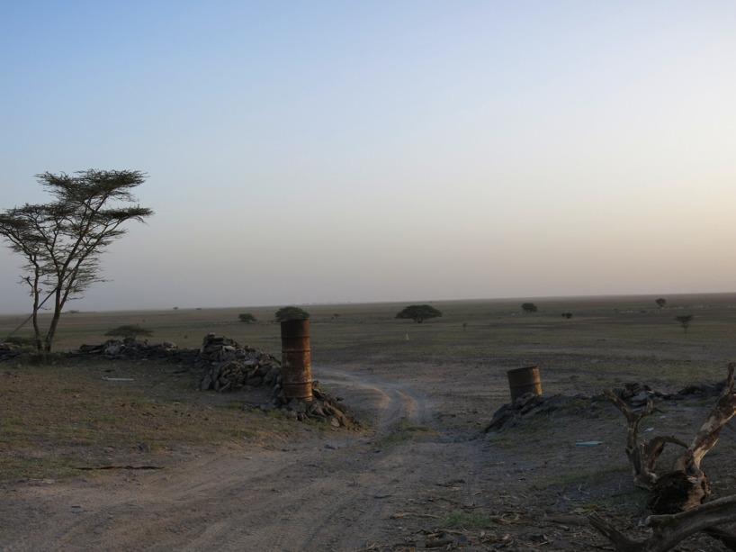Bilden tagen från den Etiopiska militärposten söderut mot Ingenmansland