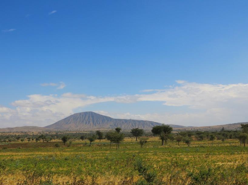 Naturen skiftade snabbt från när vi rullat ner från Addis som ligger på 2300möh.