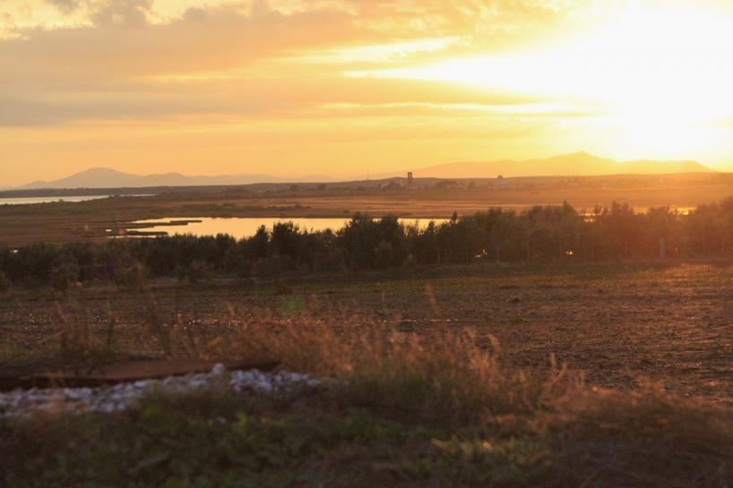 En storslagen soluppgång dagen vi cyklade in i Turkiet