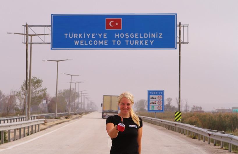 Hejhopp! Välkommen till Turkiet - sista landet i Europa!
