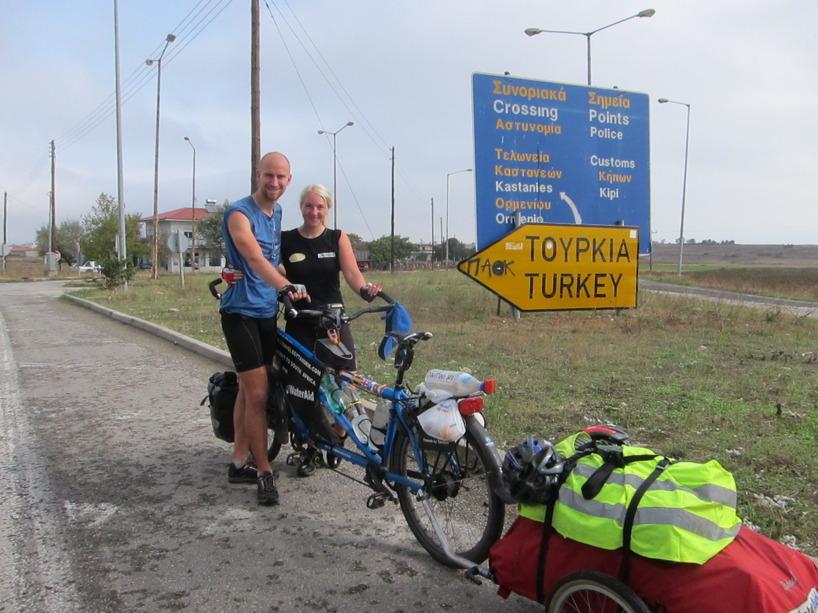 Cyklingen ner till Turkiet!