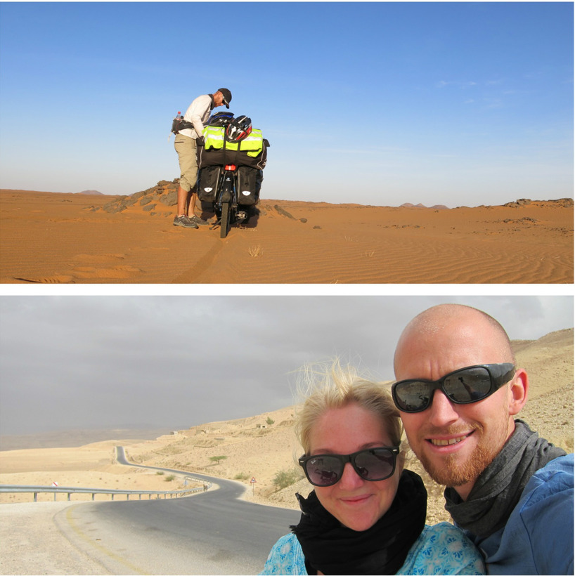 Sudan and Jordanien by bike!