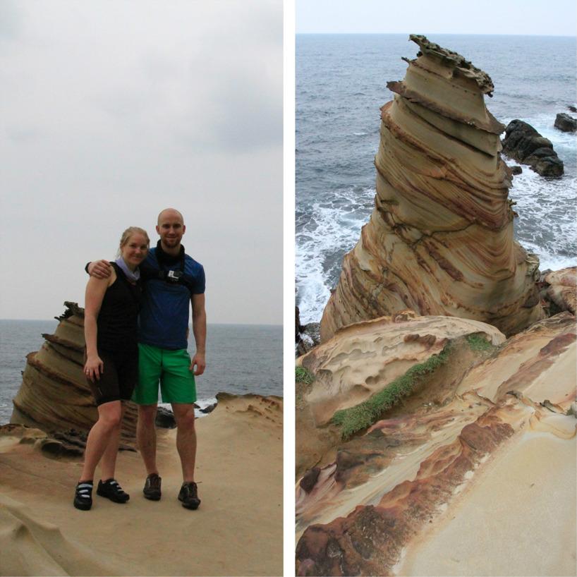 Passerade några häftiga klippor på vägen idag... Tänk vad erosion kan forma!
