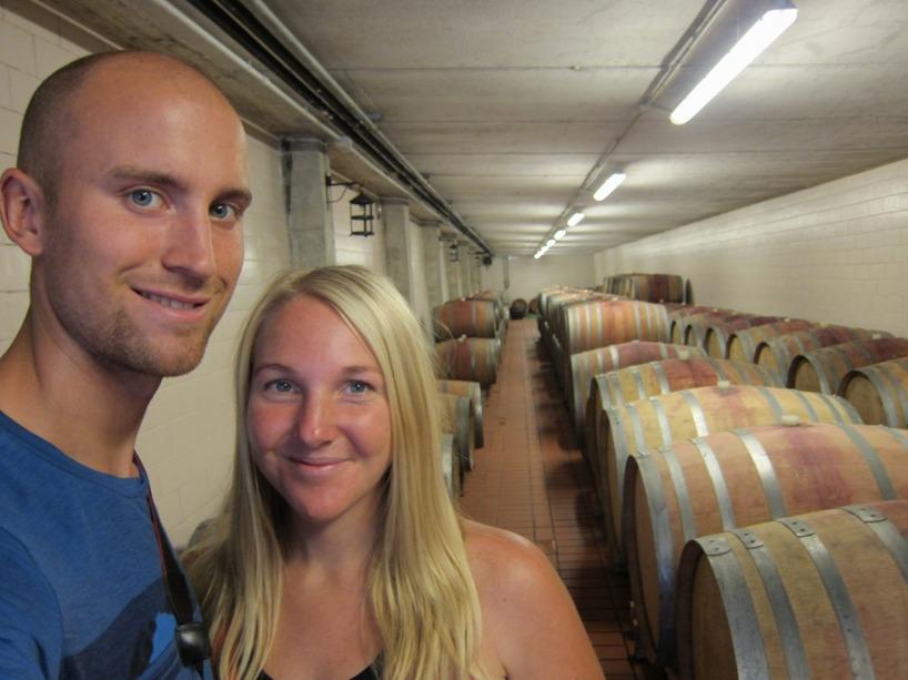 Vinkällaren där vinet ska ligga i ekfaten och andas genom ekträt!