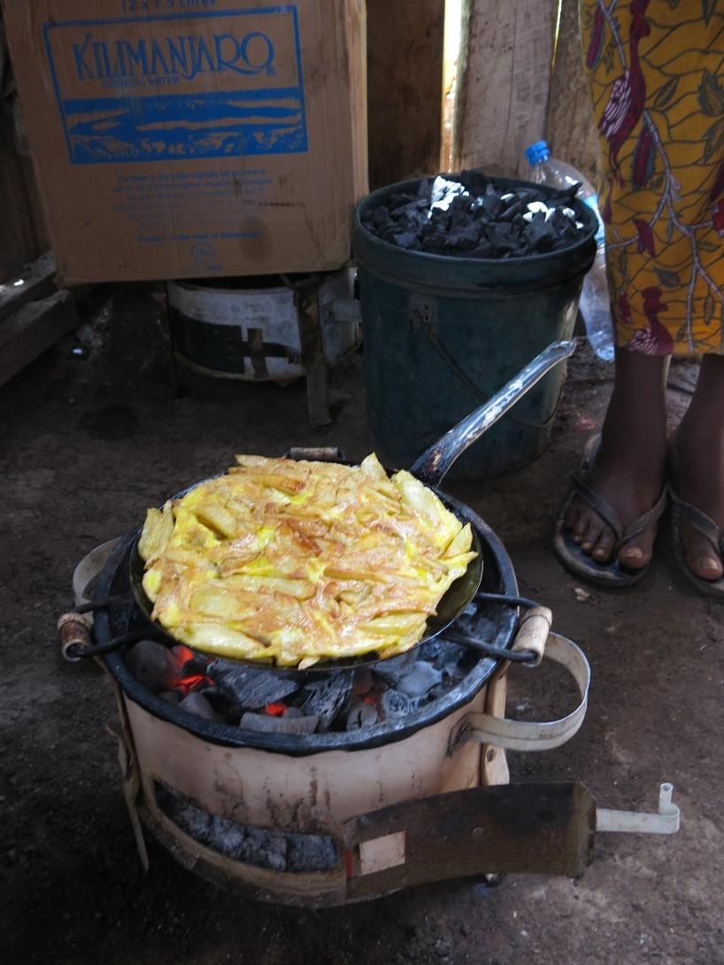 Vilket är en omelett gjord med pommes. Inte speciellt nyttigt! Men gott!
