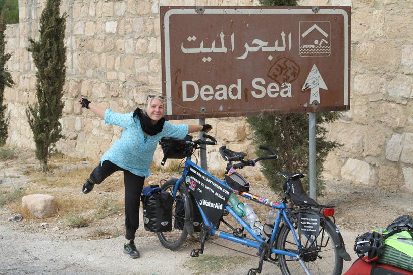 Jordanien (November) - Cyklingen längs döda havet bjöd på magnifika vyer!