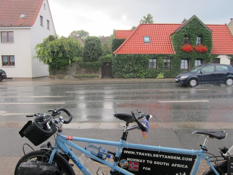 Den första regnskuren var inte nådig!!