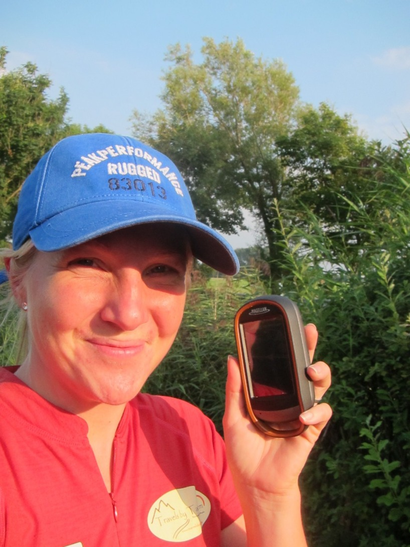 Efter ett gräl och lite heta känslor fick Susanne hjälpa till med orienteringen och lära sig vad en GPS används till =)