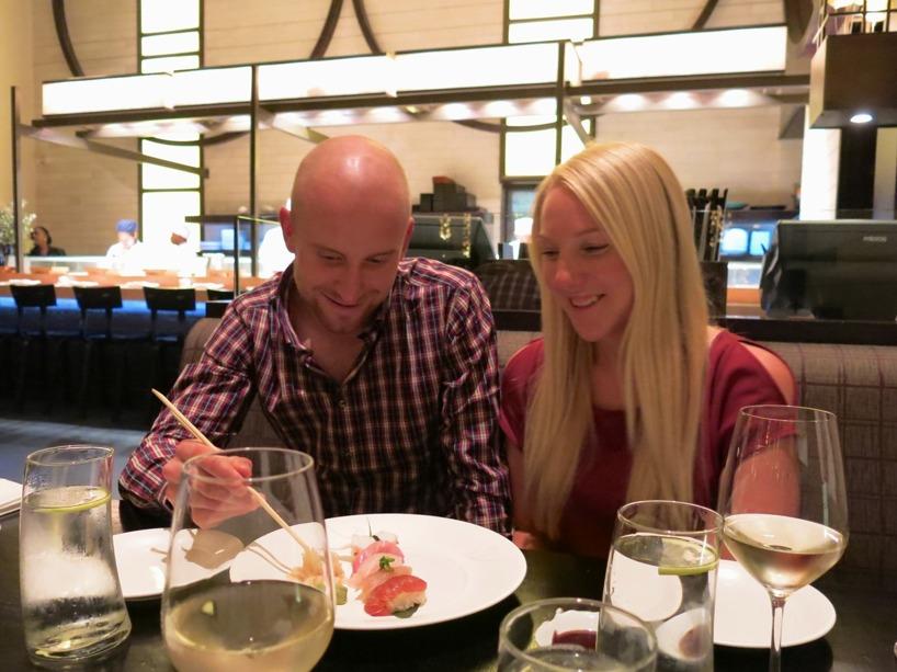 En kväll avslutades med den kända japanska restaurangen Nobu som bjöd på högklassig mat!