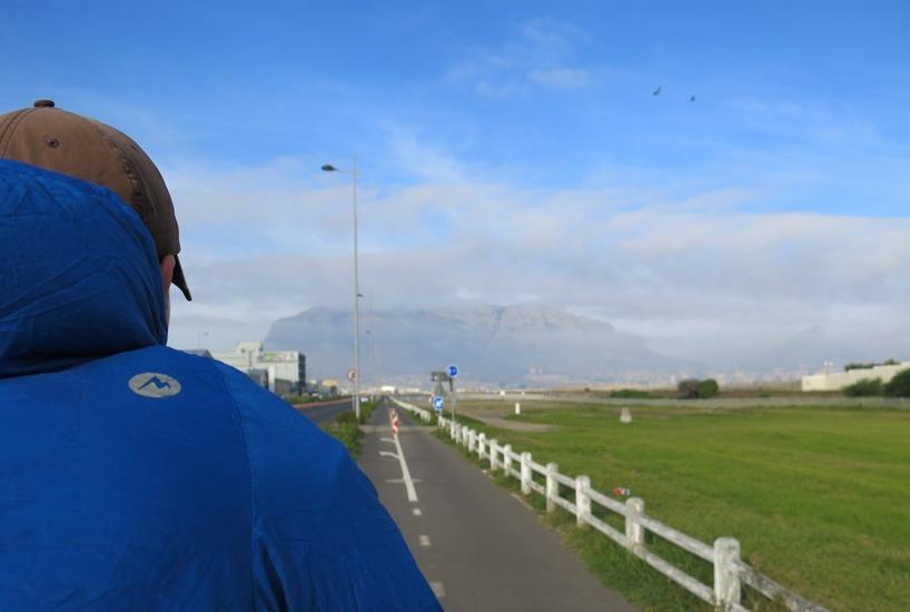Synen av Taffelberget på håll fick oss att rysa när vi kom närmare och närmare!