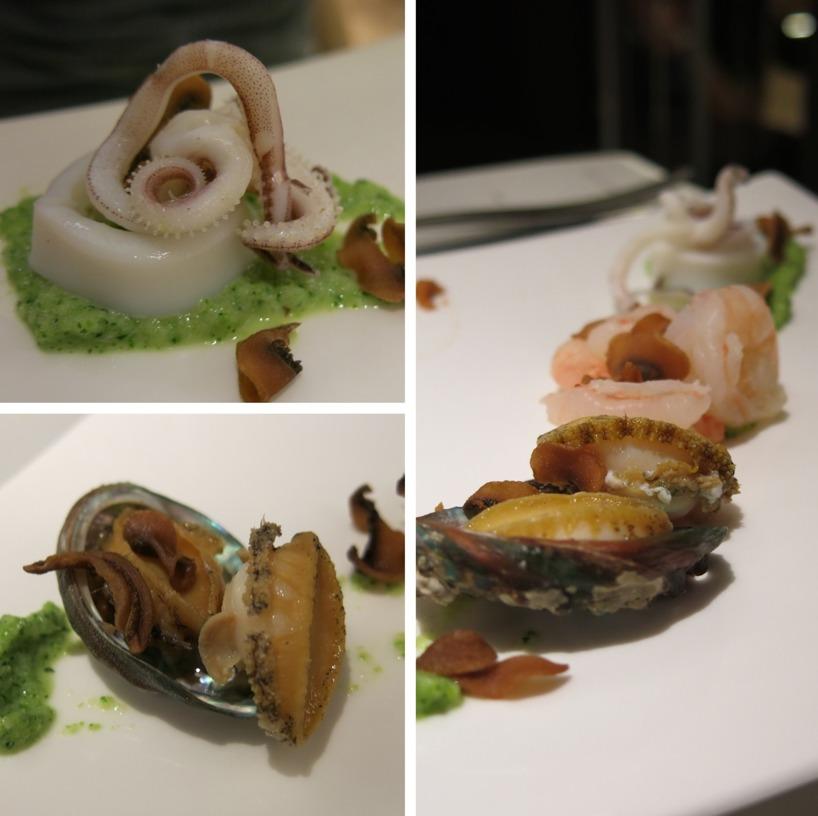Maträtt nr 4 med olika typer av skaldjur :)