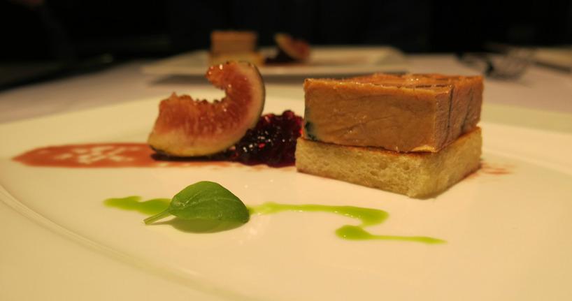 Till förrätt åt vi en fantastisk anklever med fikonjelly. Det kan vara något av det godaste vi ätit!