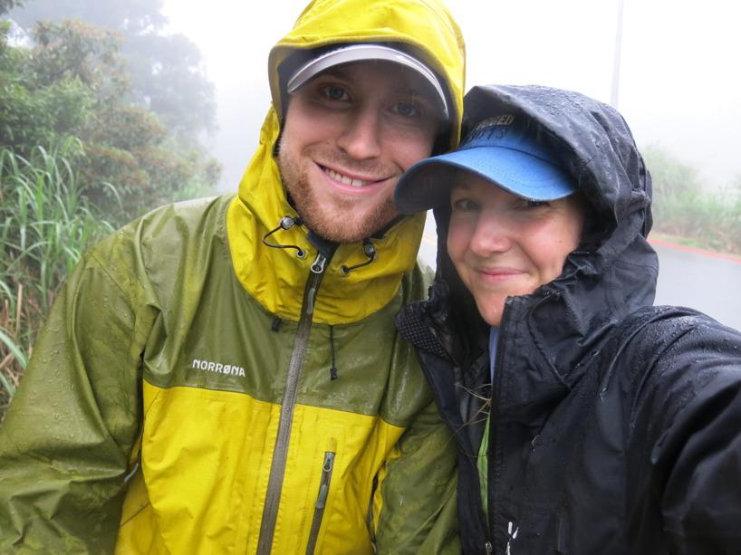 Glada trots regn :)