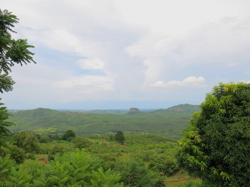 Utsikten när vi rullade ner mot Malawi!