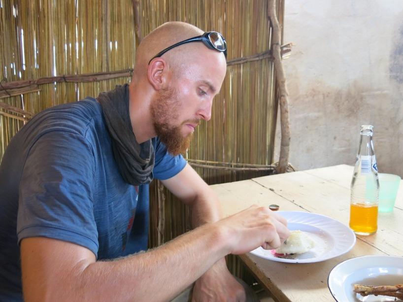 Där vi åt ren Nzima som är gjord på majsmjöl. Väldigt likt Ugali, men godare!