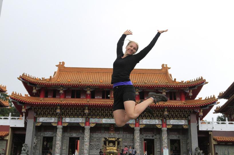 Wenwu tempel i Sun Moon Lake!