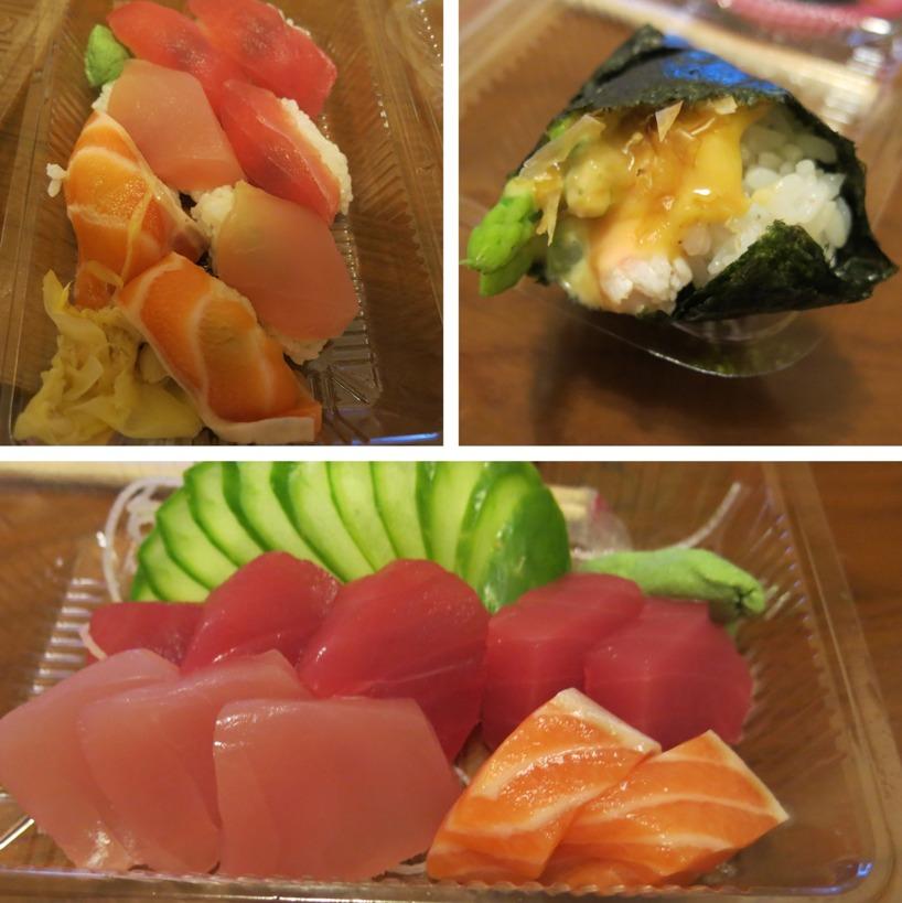 Det blev Take-away Sushi idag med!