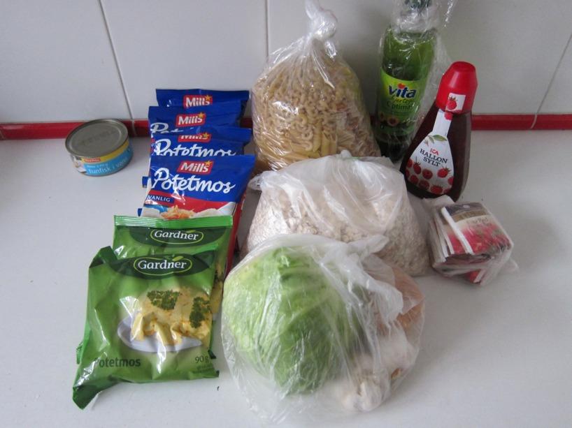 Vår kost, packat och klart!