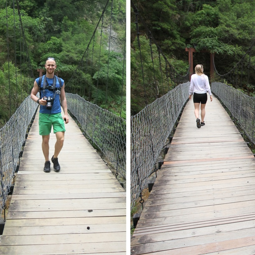 På väg mot Baiyan waterfall!