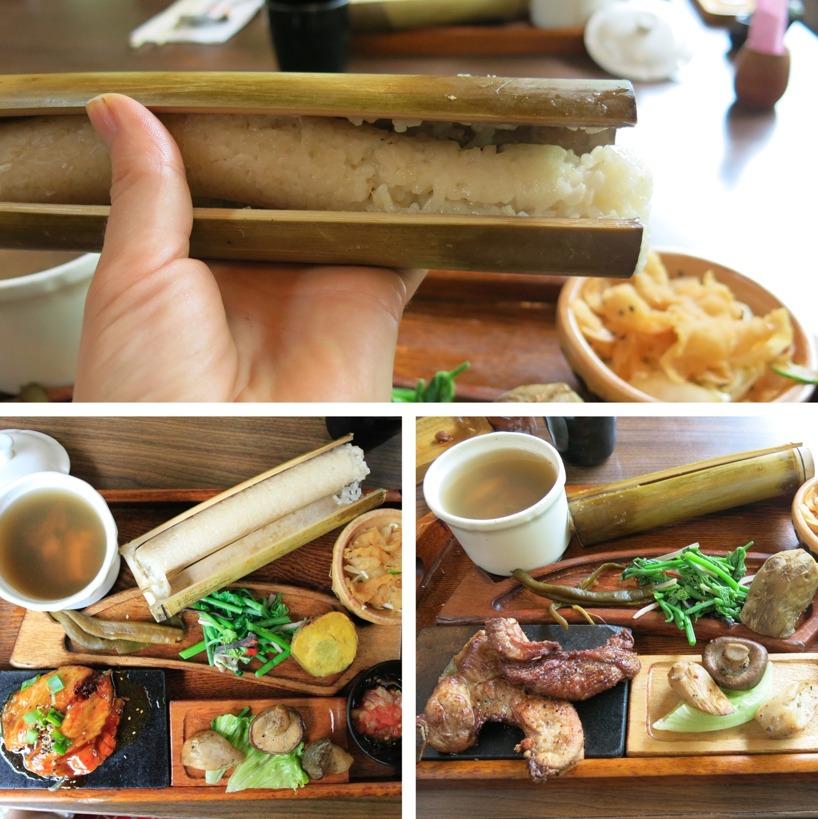 """Lunchen var inspirerat av lokala traditioner, med bland annat """"sticky rice"""" överst!"""