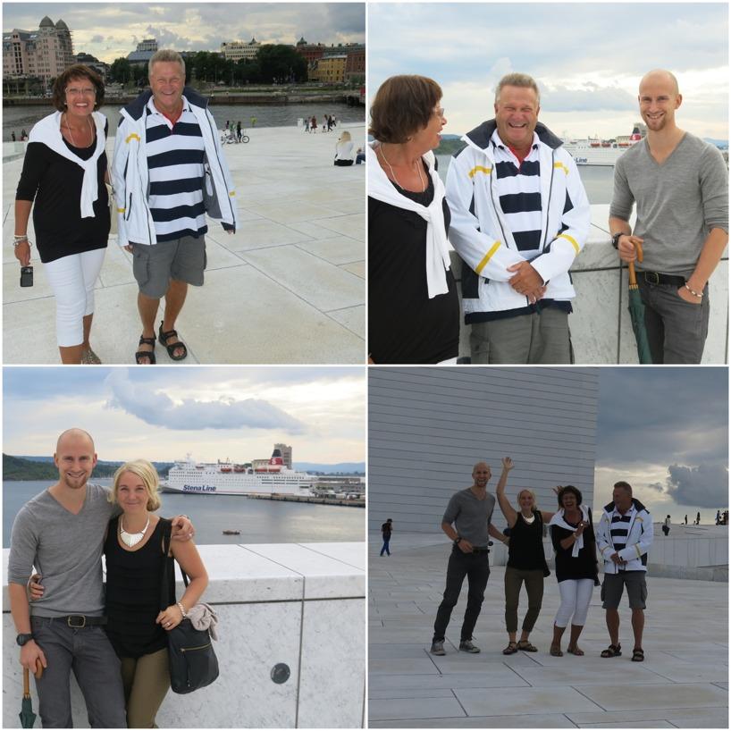 Familjen Björkenäs kom för att se hur vi hade det i Oslo...