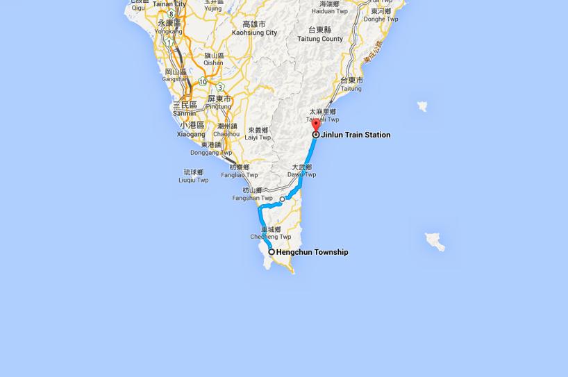Slutdestinationen är Hengchun där vi sover i två dagar. Imorgon tar vi cykeln till de södra stränderna! Håll tummarna för sol!