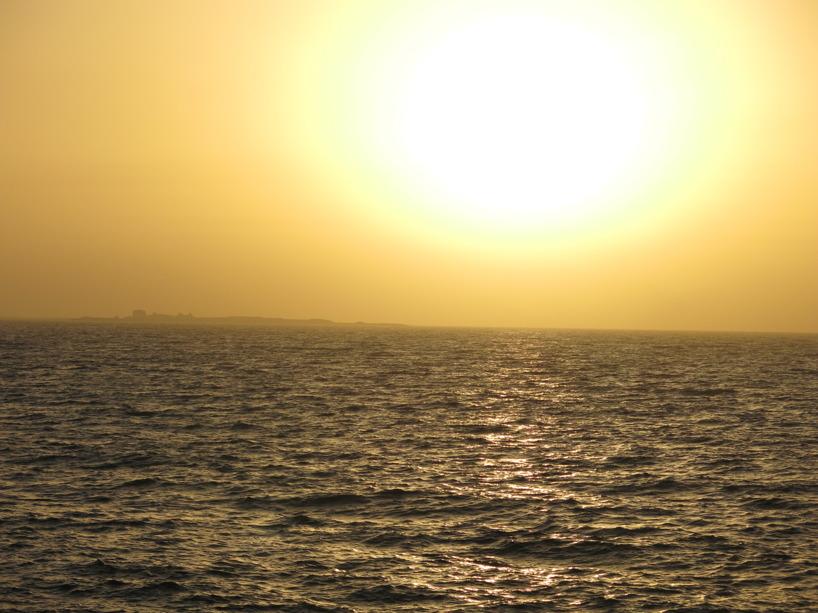 När solen gick ner satte vi oss på kajkanten och myste. Som sagt, det enkla är oftast det bästa!