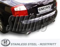 Audi A4 1.6i, 2.0i, 1.9TDi, 2.0TDi (B7) 2wd<br>Bakre ljuddämpare