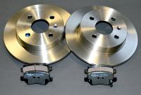 Paket  2<br>Bromsskivor 240 mm + Bromsbeläggsats bakaxel OPEL Astra G+H, Meriva A